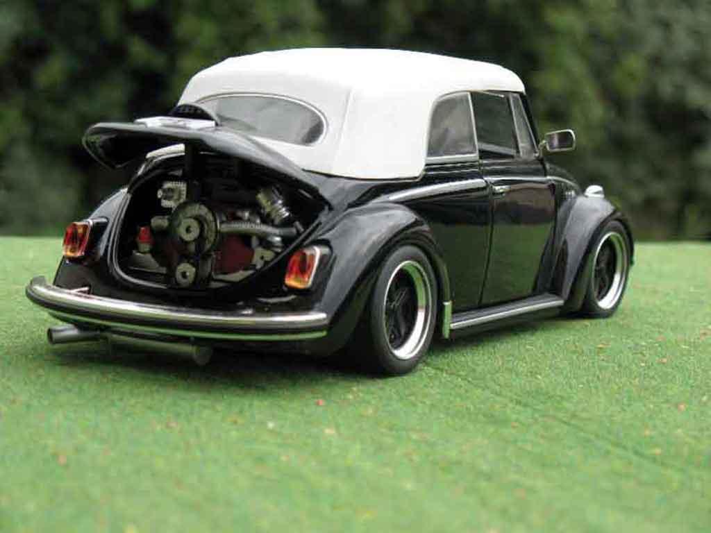 Volkswagen Kafer 1/18 Solido Coccinelle Cabriolet noire jantes fuchs