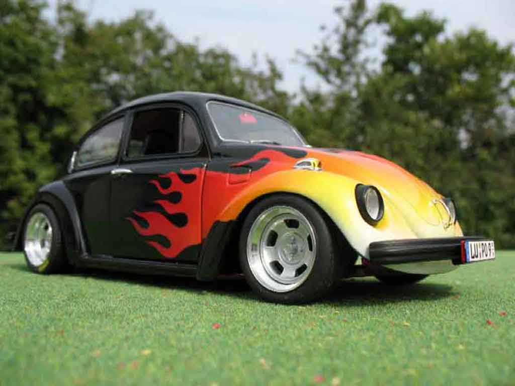 Volkswagen Kafer 1/18 Solido coxinelle noir flaming us tuning miniature