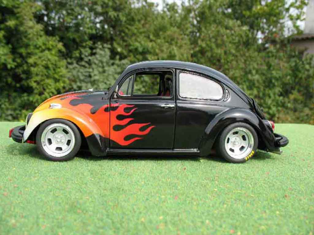 Volkswagen Kafer 1/18 Solido coxinelle noir flaming us