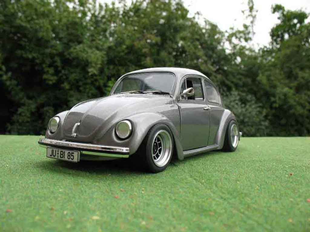 Volkswagen Kafer 1/18 Solido coxinelle grise jantes ats tuning miniature
