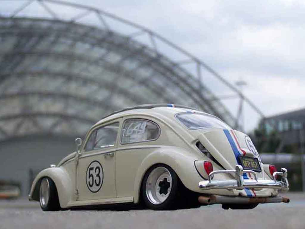 Volkswagen Kafer Herbie 1/18 Burago coxinelle jantes bords larges