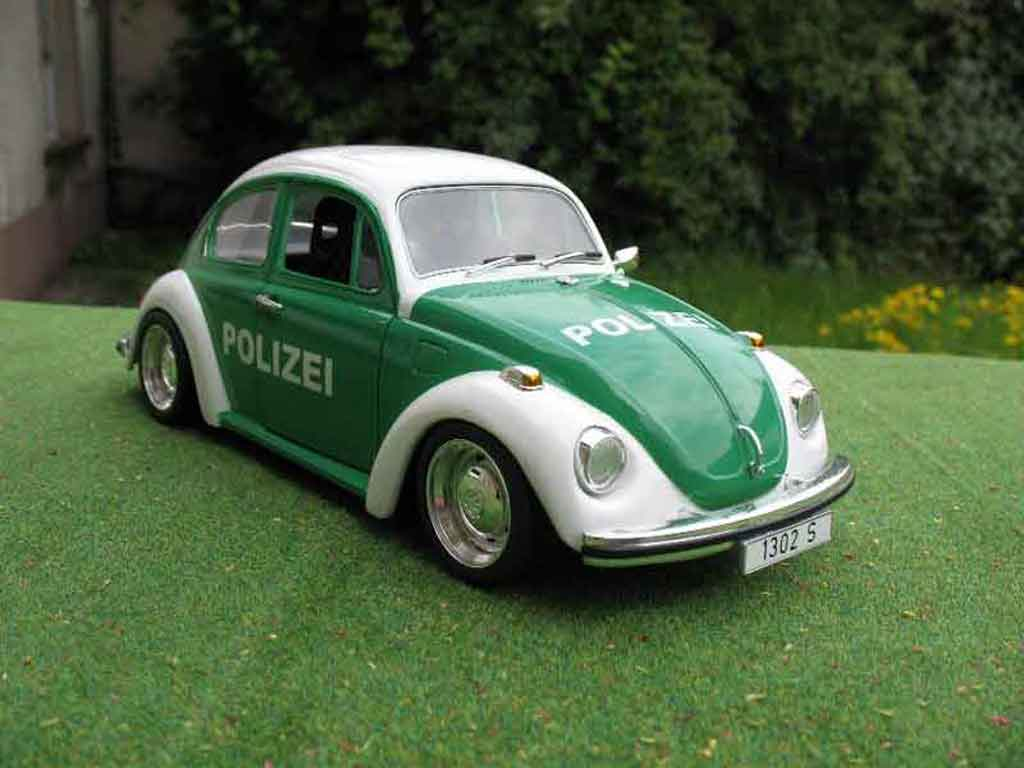 Volkswagen Kafer 1/18 Solido coxinelle polizei / police tuning diecast model cars