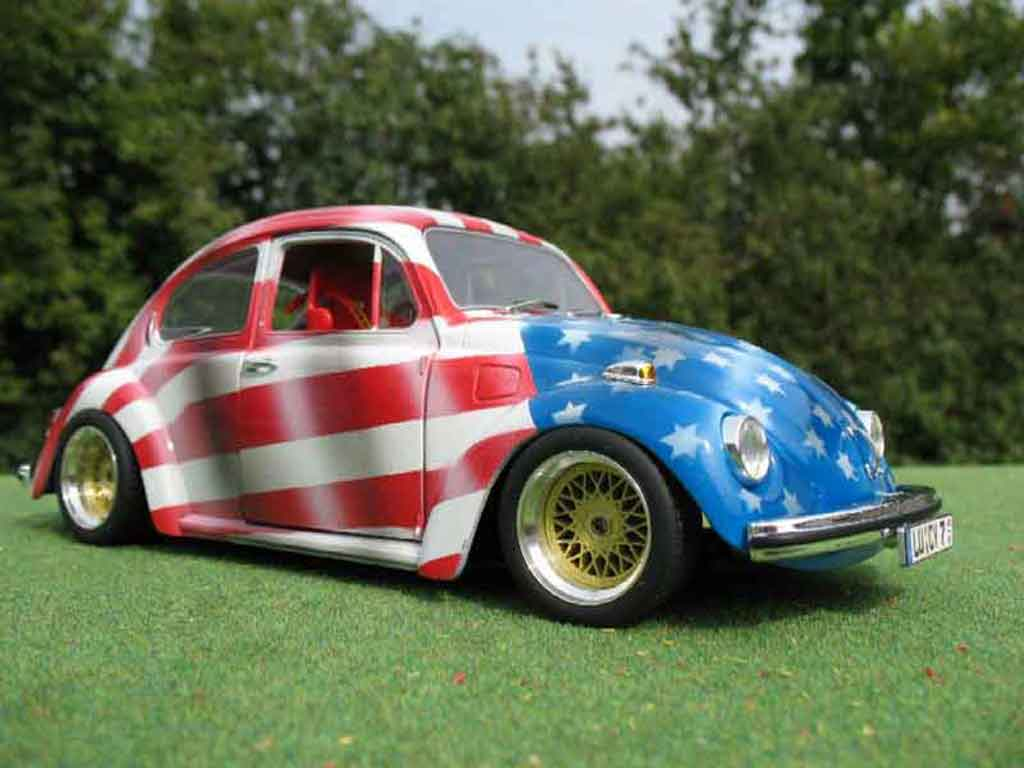 Volkswagen Kafer 1/18 Solido coxinelle usa tuning miniature