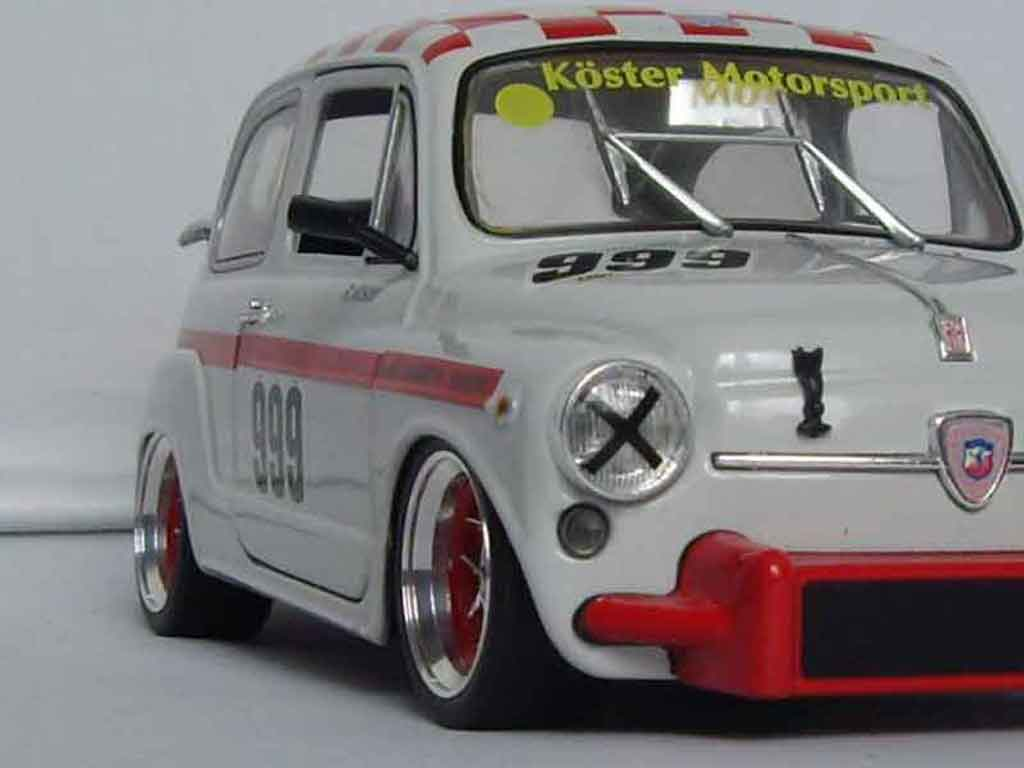 Fiat 850 Abarth 1000 Tc Revell Diecast Model Car 1 18
