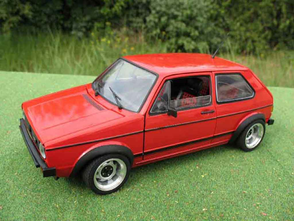 Volkswagen Golf 1 GTI 1/18 Solido jantes ATS 13 pouces rouge