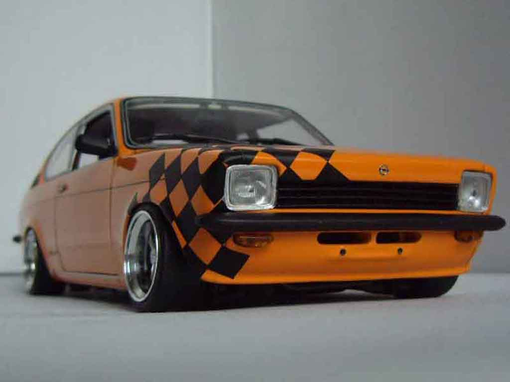 Opel Kadett coupe 1/18 Minichamps coupe sr 1976 orange tuning miniature
