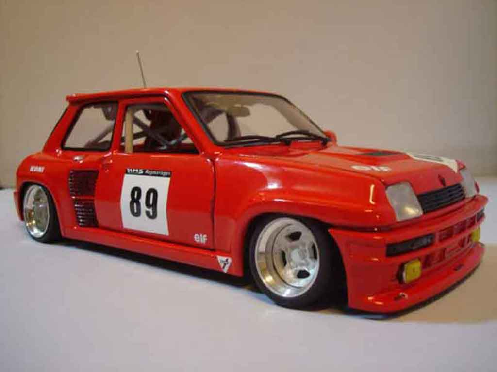 renault 5 turbo miniature 2 rouge rallye universal hobbies 1 18 voiture. Black Bedroom Furniture Sets. Home Design Ideas