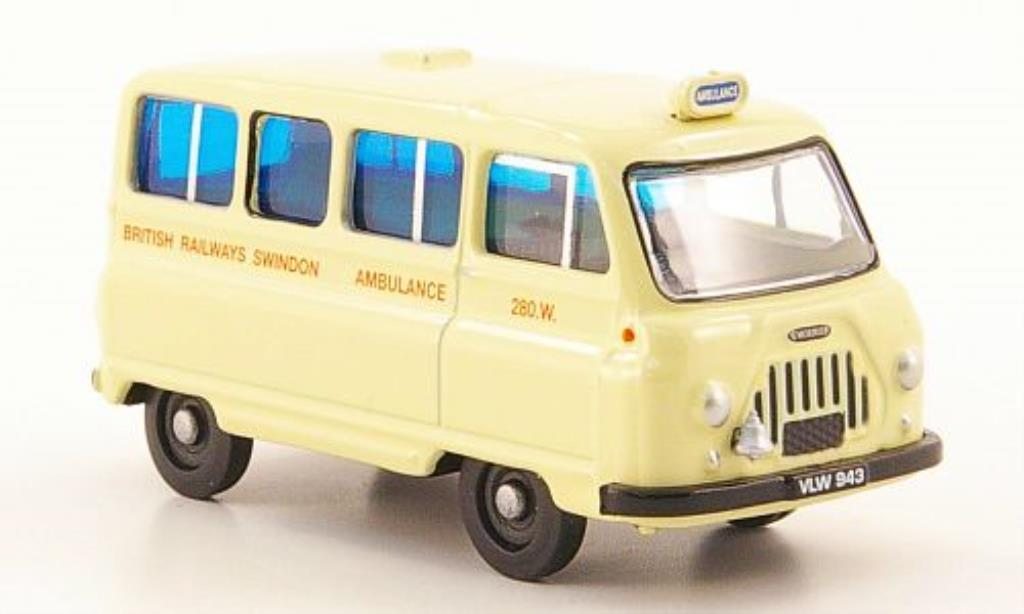 Morris J2 1/76 Oxford Minibus British Railways Ambulance miniature