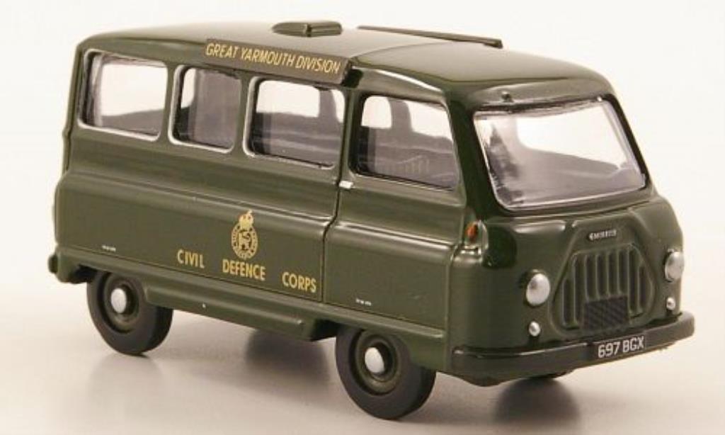 Morris J2 1/76 Oxford Minibus Civil Defence miniature