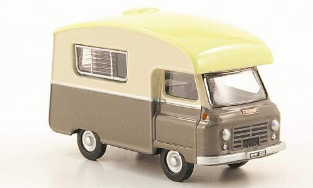 Morris J2 1/76 Oxford Paralanian marron/creme miniature