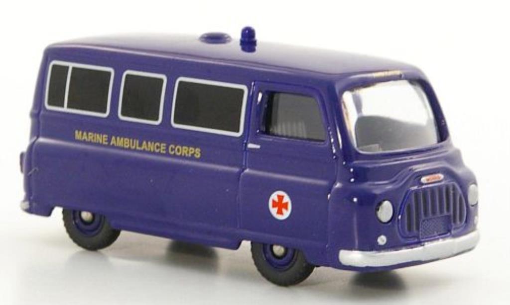 Morris J2 1/76 Corgi Van Marine Ambulance Corps Emergency Services miniature