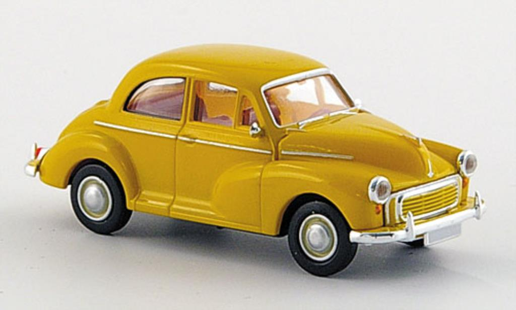 Morris Minor 1/87 Brekina Limousine jaune miniature