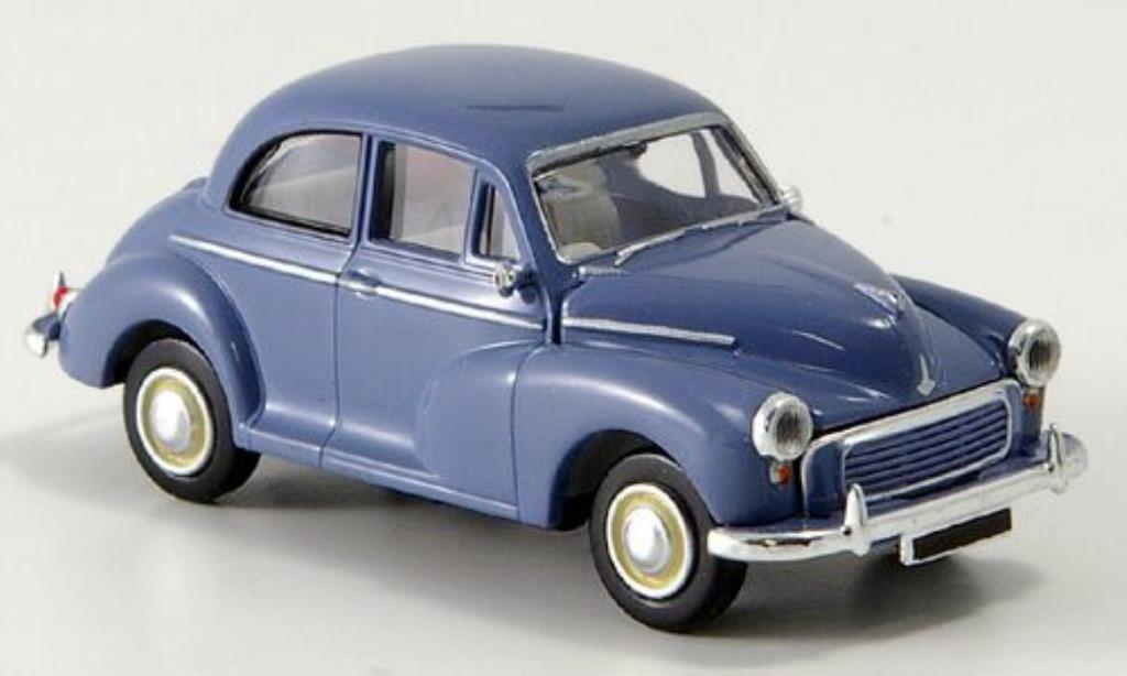 Morris Minor 1/87 Brekina Rechtslenker bleu miniature