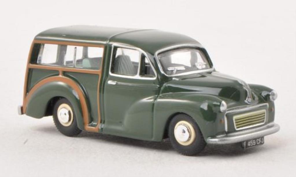Morris Minor 1/76 Oxford Traveller verte miniature