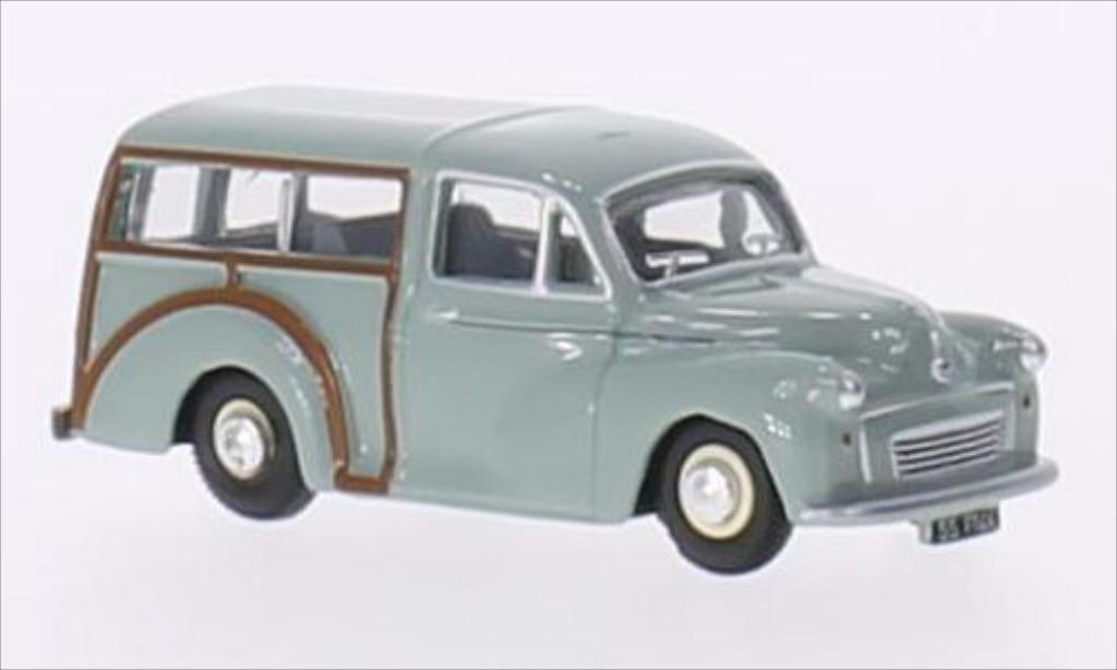 Morris Minor 1/76 Oxford Traveller grise/marron RHD miniature