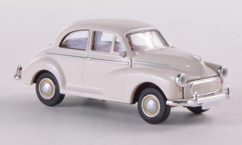 Morris Minor 1/87 Brekina blanche (GB) miniature