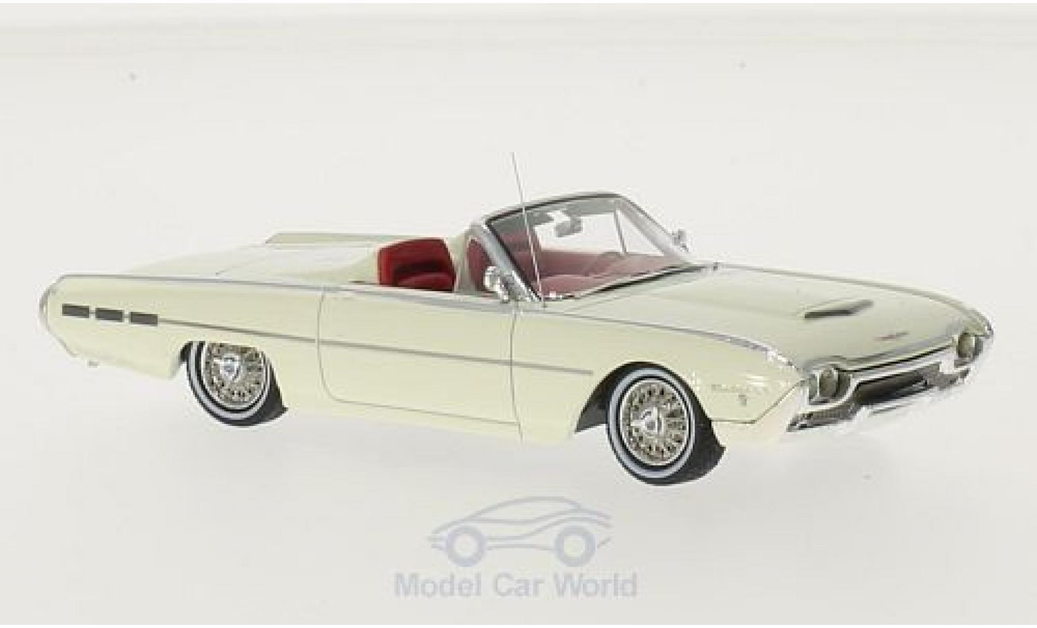 Ford Thunderbird 1962 1/43 Motorhead Sports Roadster blanche
