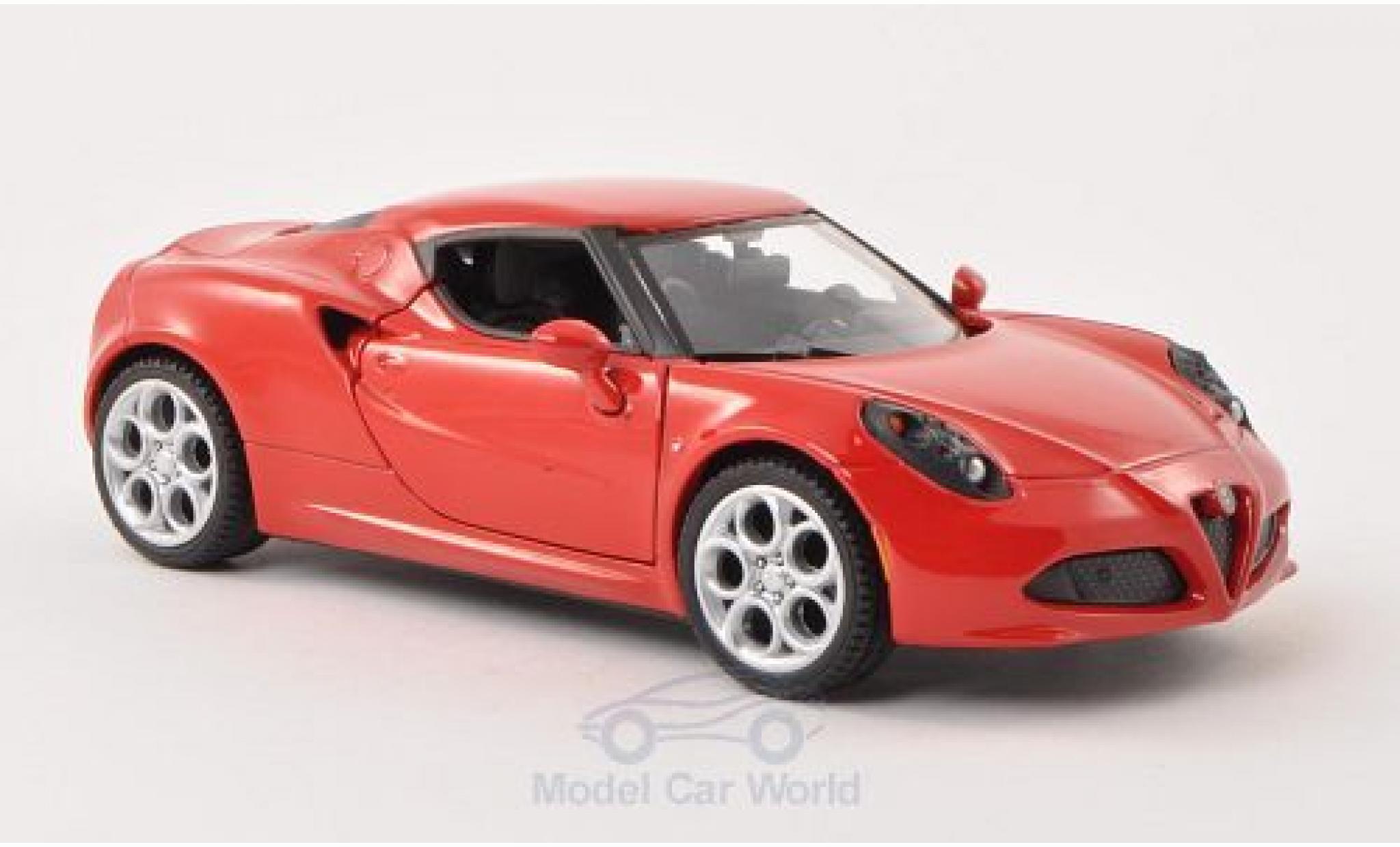 Alfa Romeo 4C 1/24 Motormax red