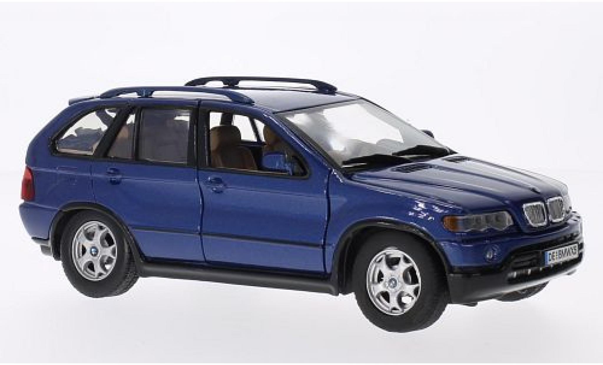 Bmw X5 1/24 Motormax metallise bleue sans Vitrine