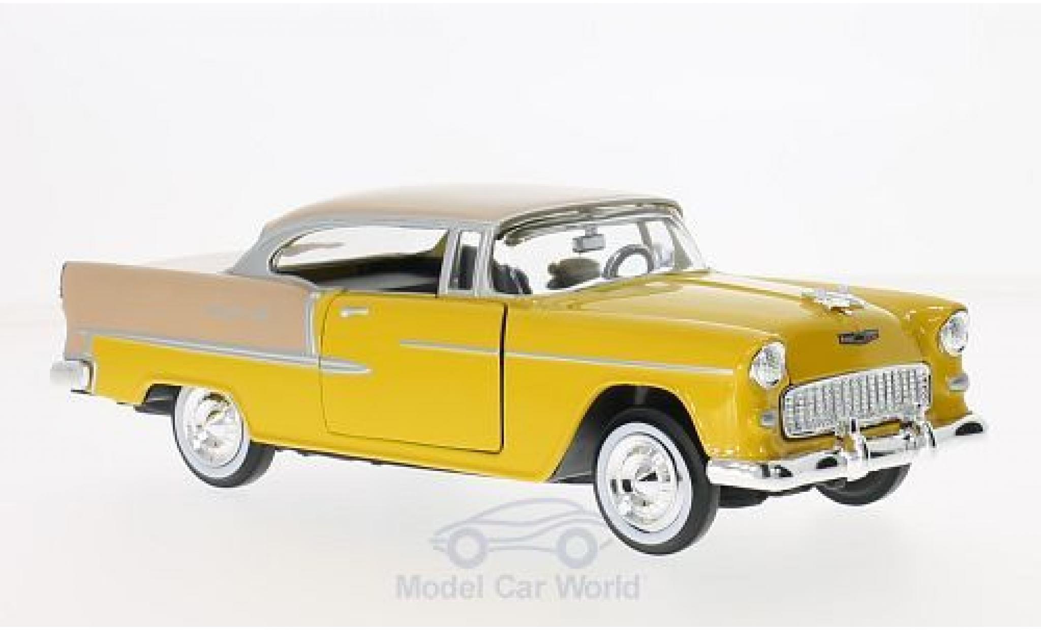 Chevrolet Bel Air 1/24 Motormax dunkeljaune/hellmarron 1955