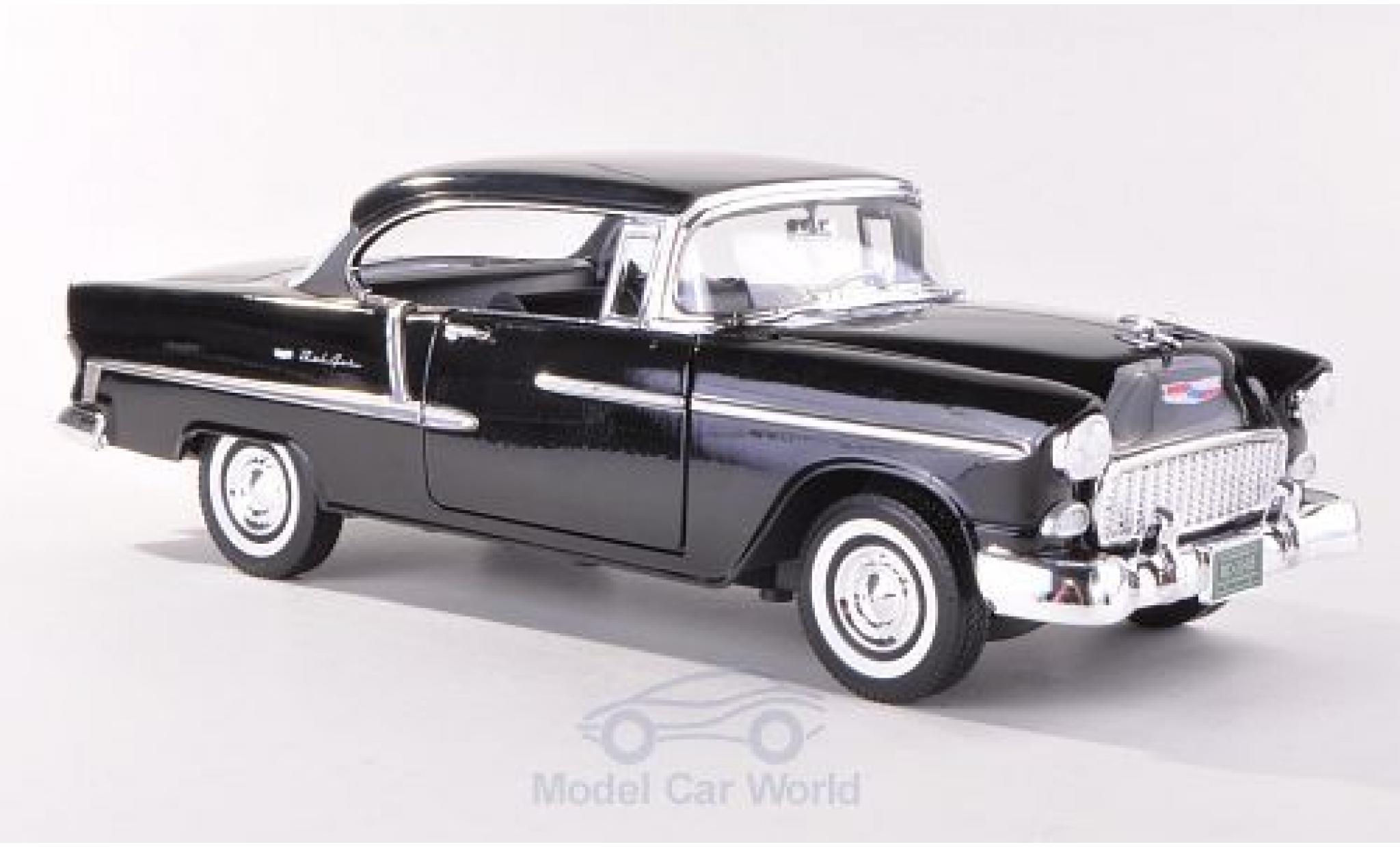 Chevrolet Bel Air 1/18 Motormax Hardtop noire 1955