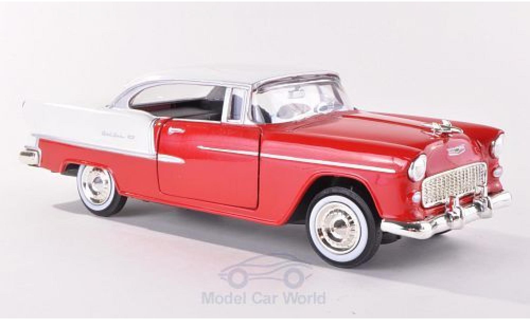 Chevrolet Bel Air 1/24 Motormax red/white 1955 ohne Vitrine