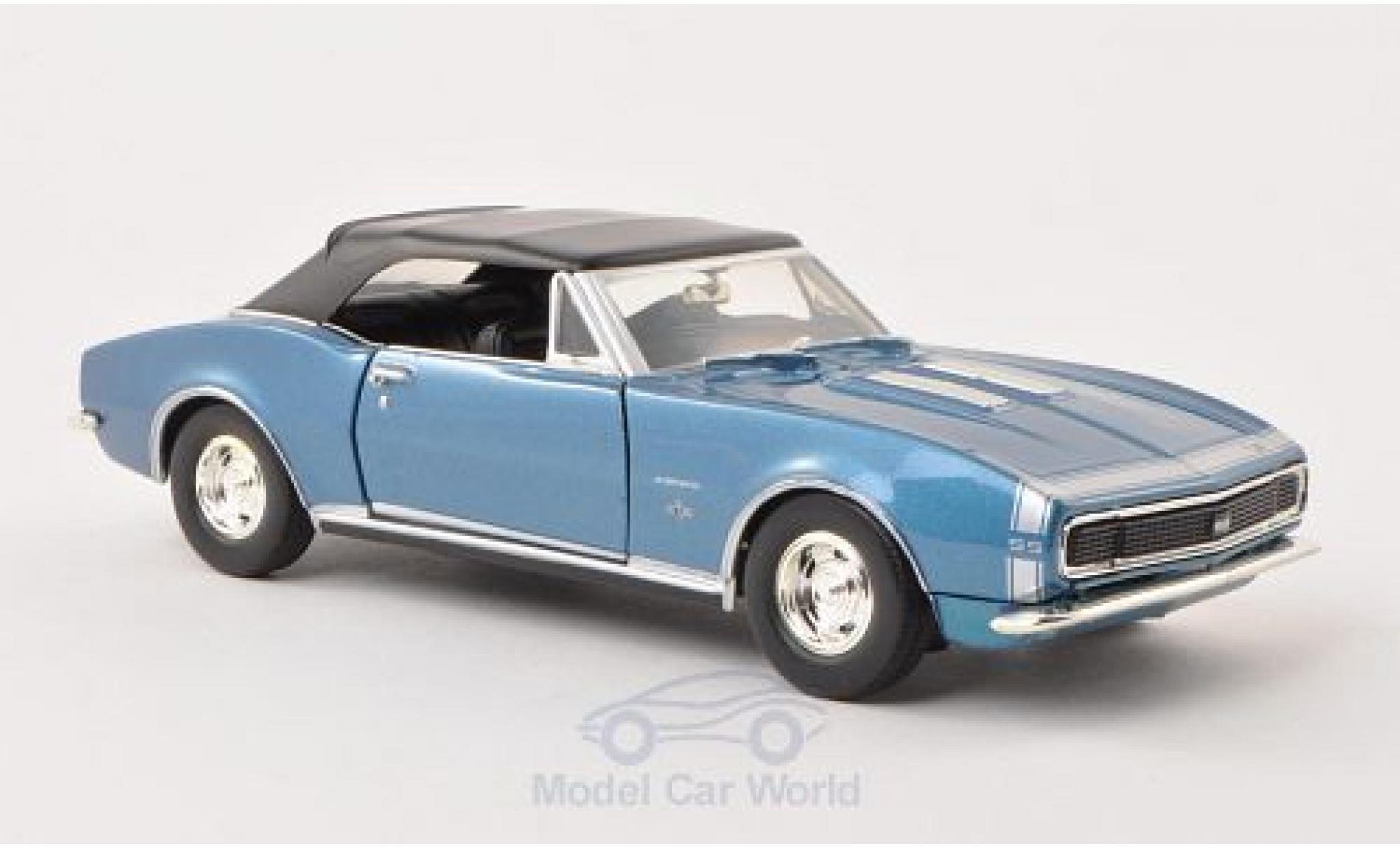 Chevrolet Camaro 1/24 Motormax SS Convertible métallisé bleue 1967 Verdeck geschlossen ohne Vitrine