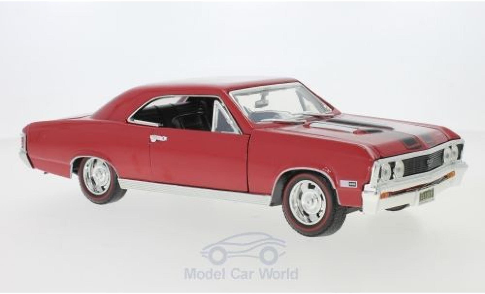 Chevrolet Chevelle 1/18 Motormax SS 396 rojo/negro 1967
