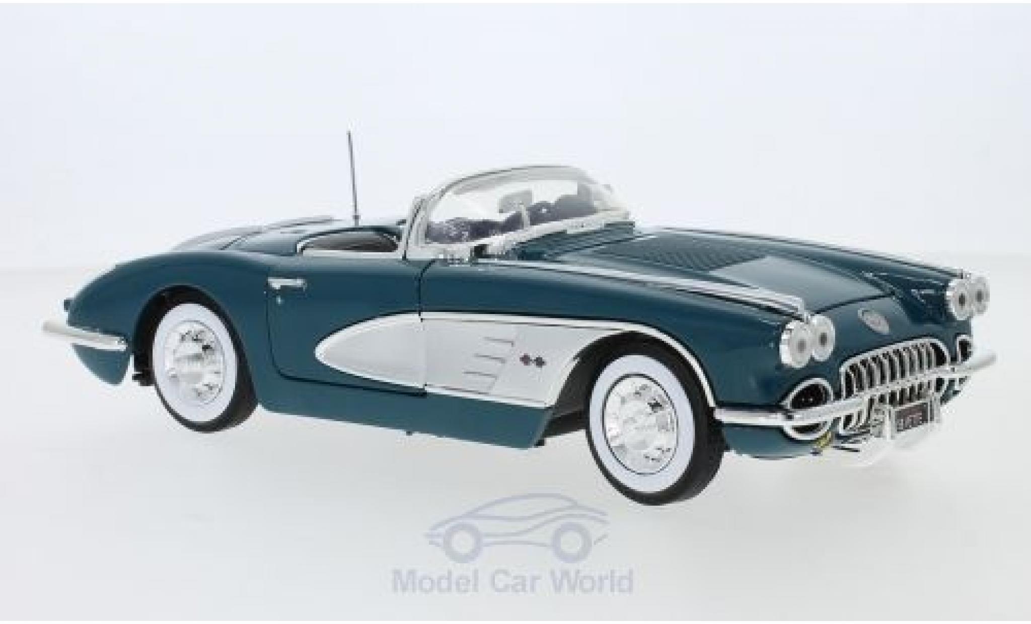 Chevrolet Corvette 1/18 Motormax C1 turquoise/grey 1958
