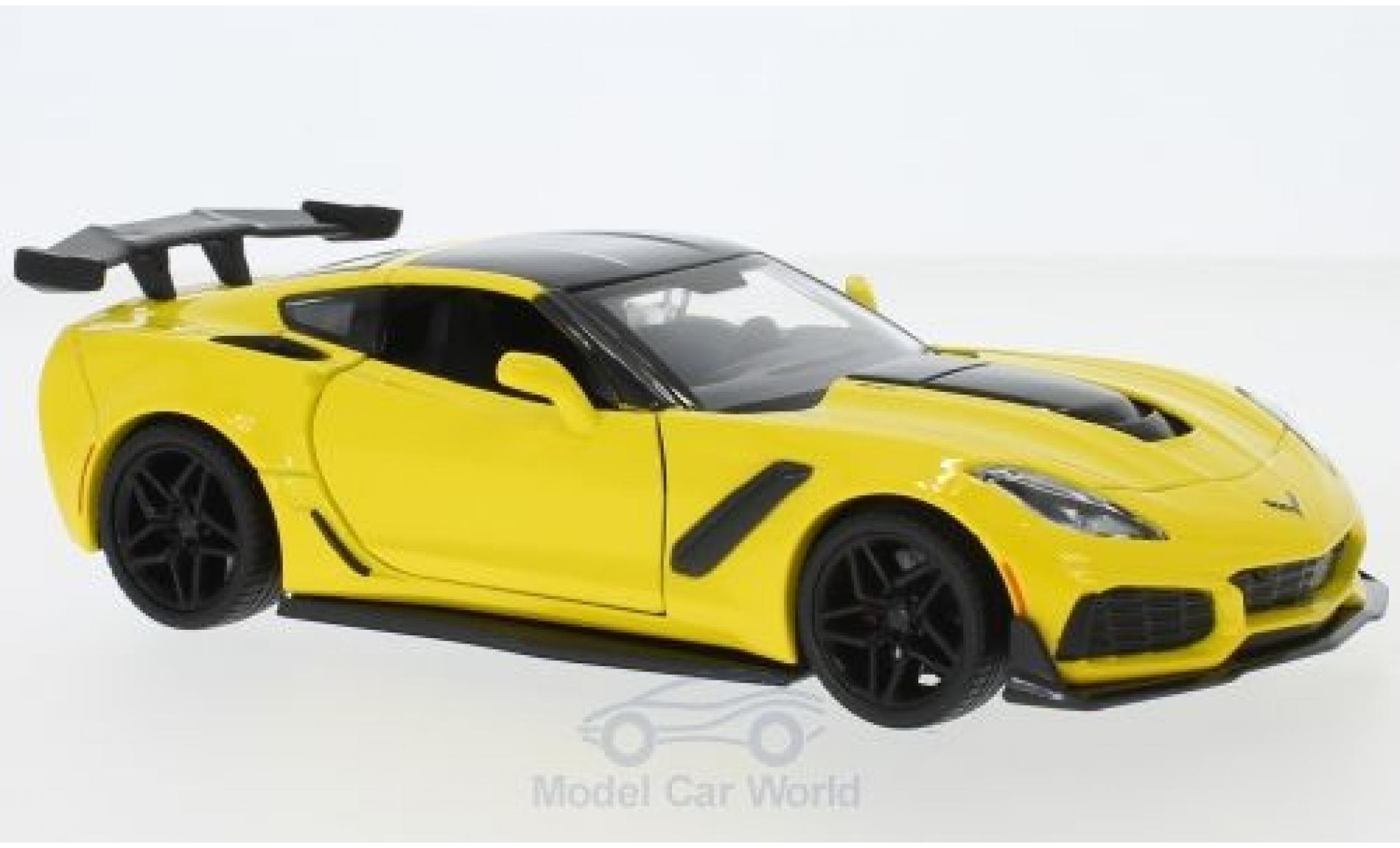 Chevrolet Corvette 1/24 Motormax ZR1 yellow/black 2019