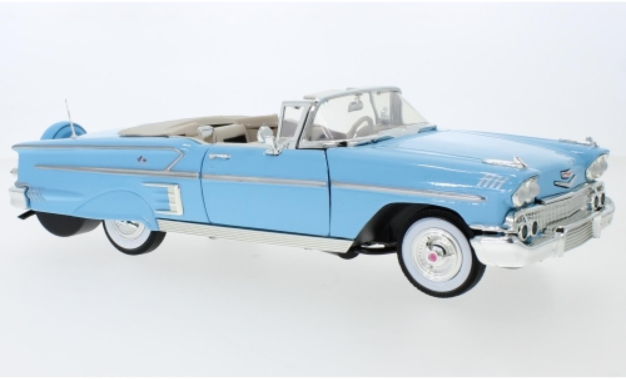 Chevrolet Impala 1/18 Motormax Convertible bleue 1958