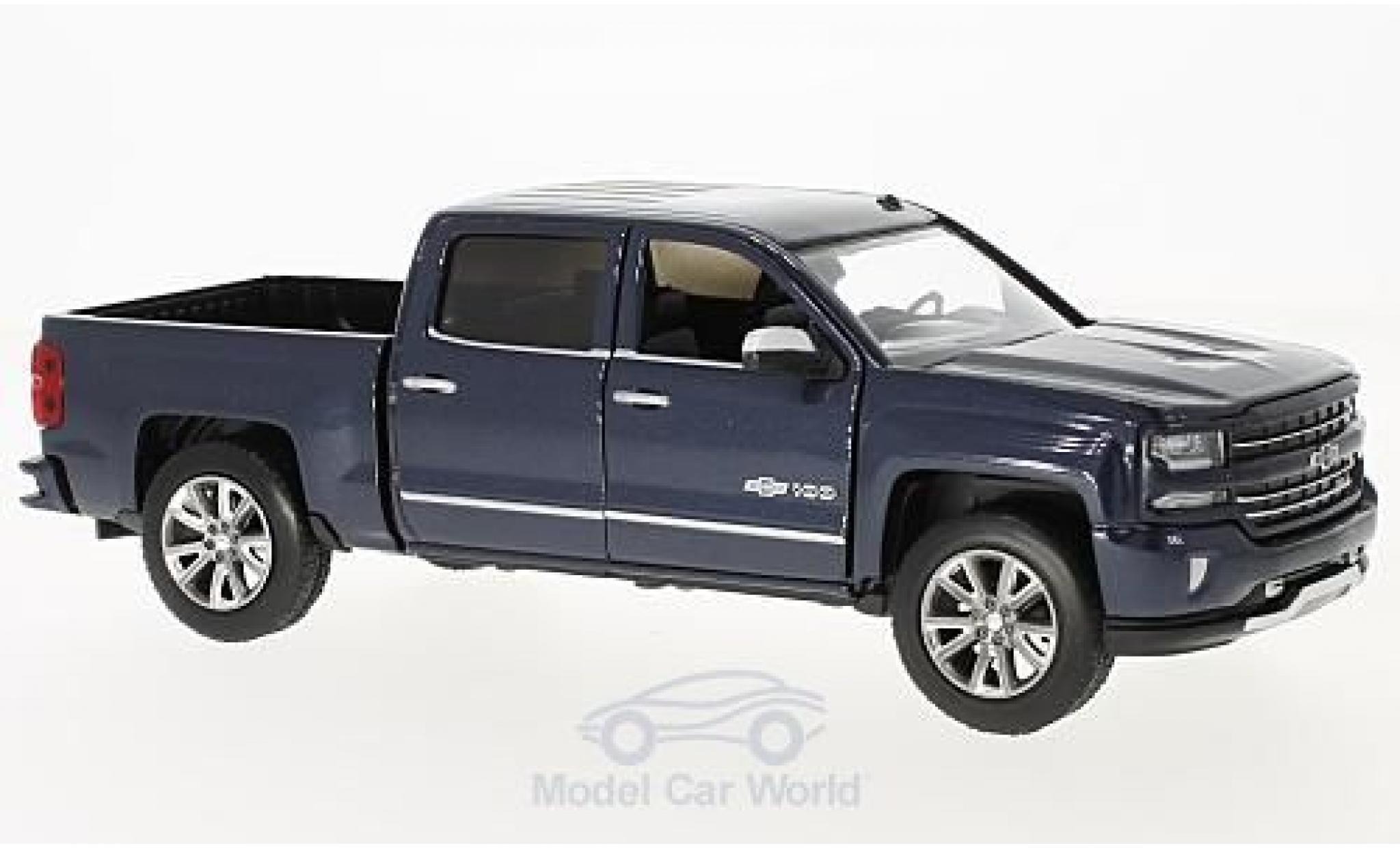 Chevrolet Silverado 1/27 Motormax Centennial Edition metallise bleue 2018