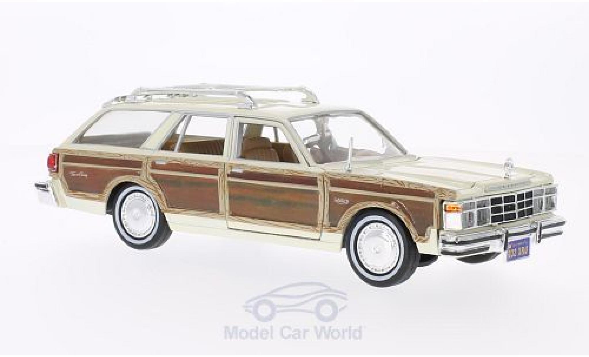 Chrysler Le Baron 1/24 Motormax Town & Country beige/Holzoptik 1979 ohne Vitrine
