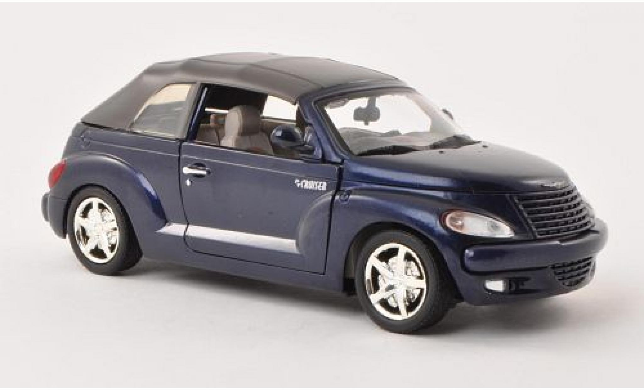 Chrysler PT Cruiser 1/24 Motormax Convertible metallise bleue sans Vitrine