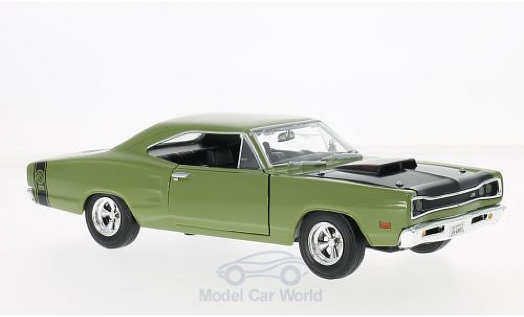 Dodge Coronet 1/24 Motormax Super Bee oliv/black 1969