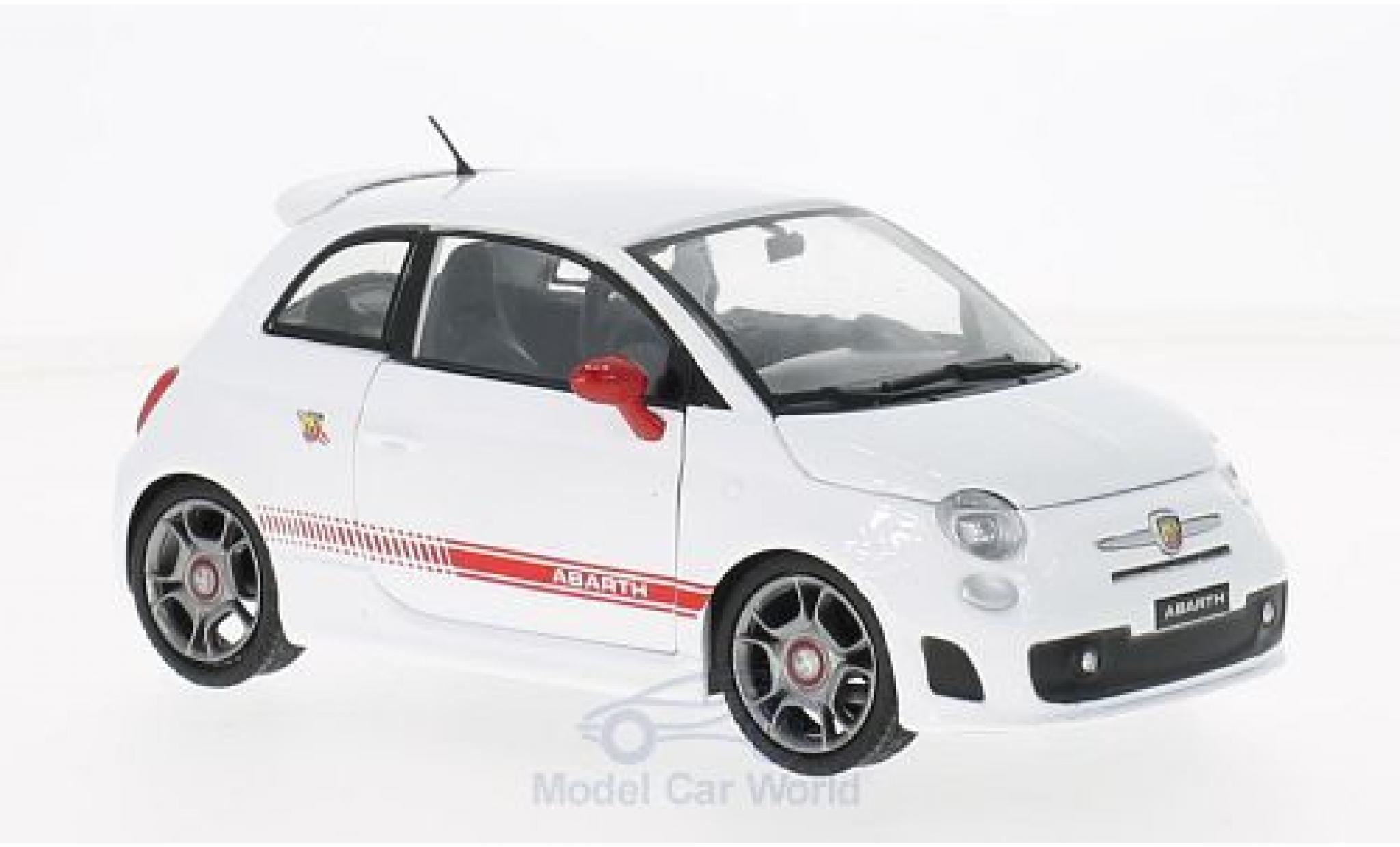 Fiat 500 F 1/24 Motormax Abarth white/red 2008