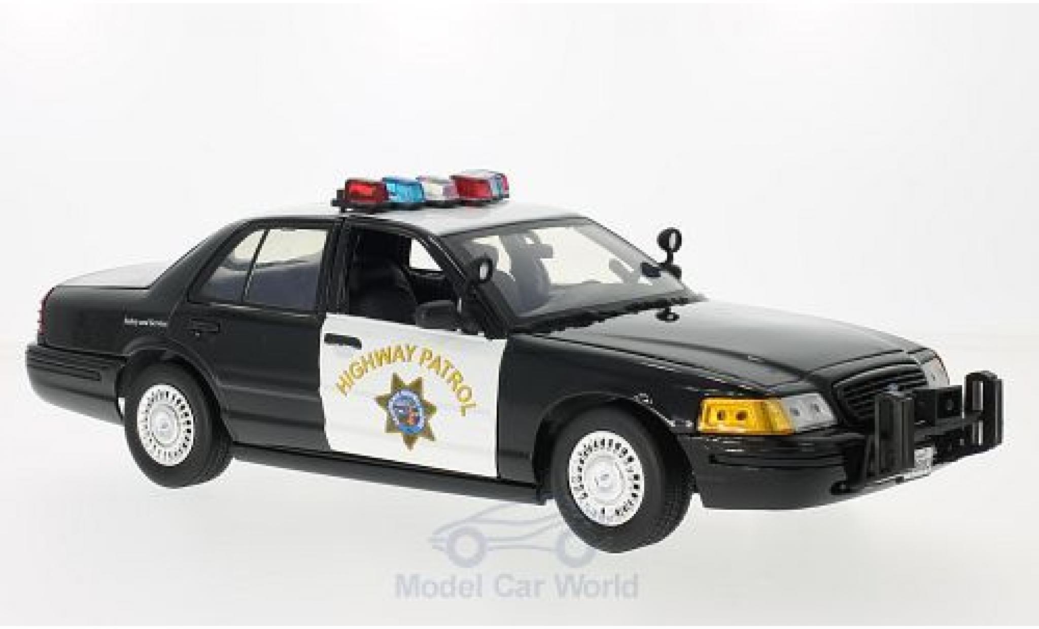 Ford Crown 1/18 Motormax Victoria Police Interceptor California Highway Patrol 2001