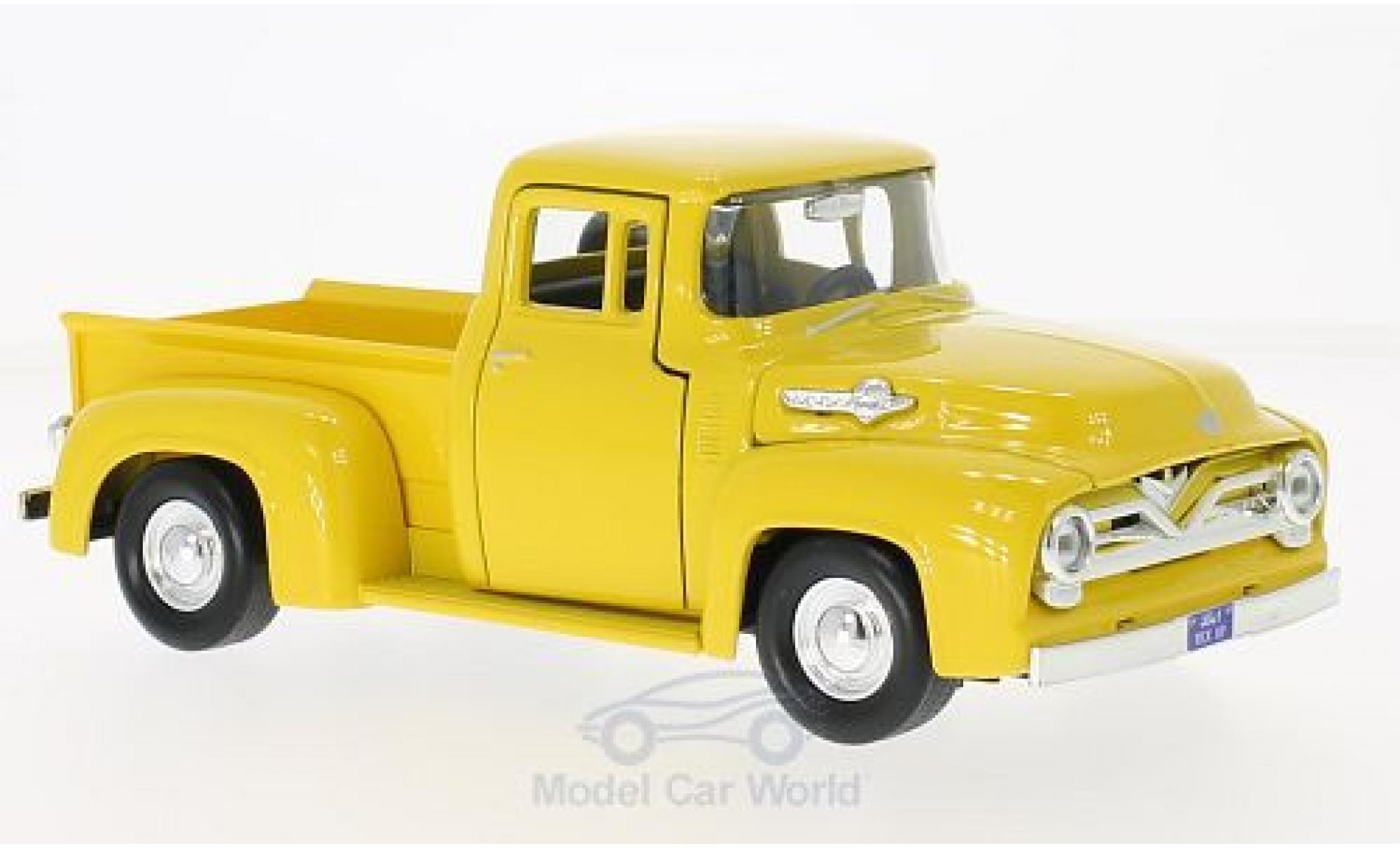 Ford F-1 1/24 Motormax 00 Pick Up jaune 1955