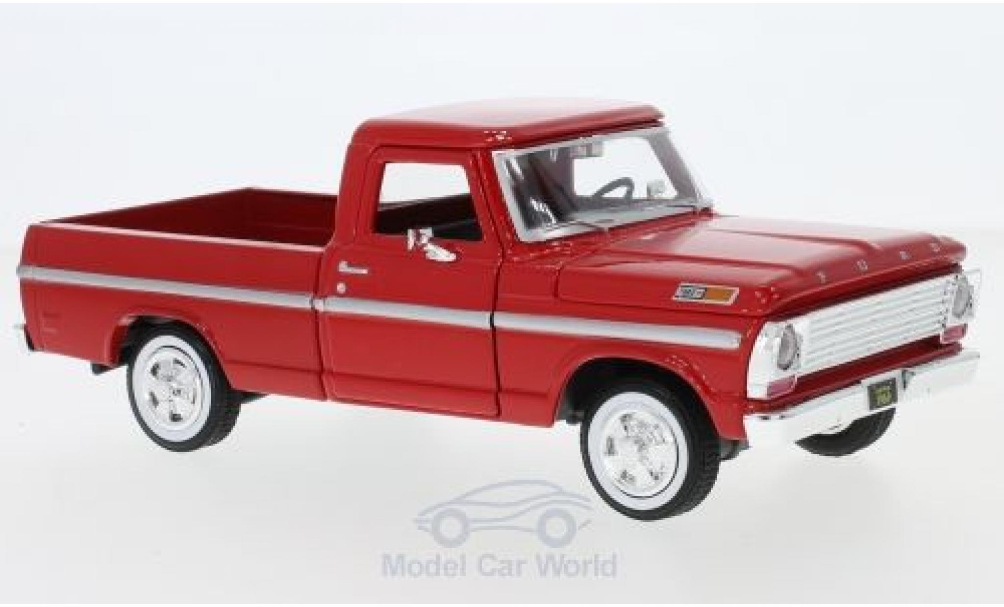 Ford F-1 1/24 Motormax 00 rouge 1969
