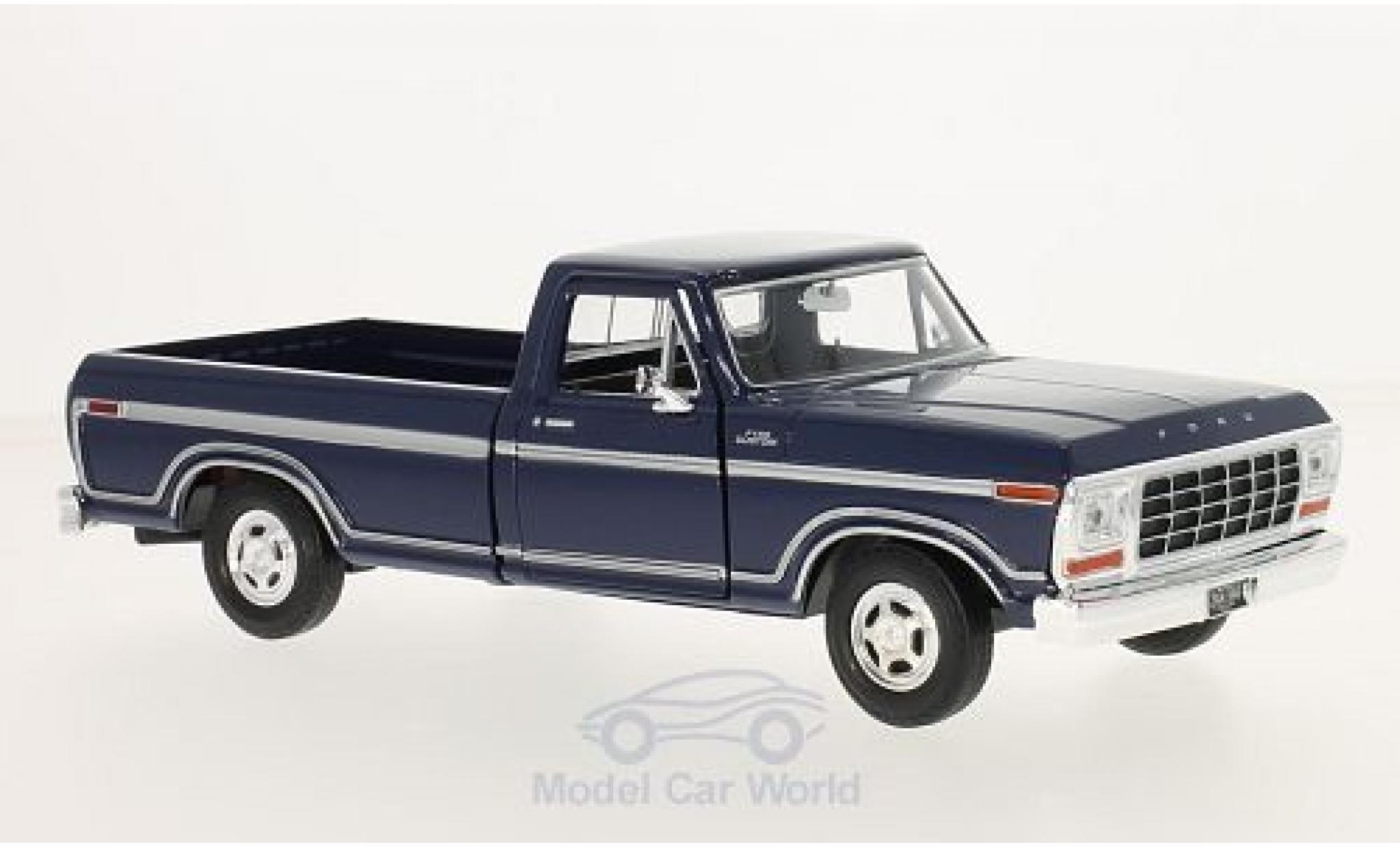 Ford F-1 1/24 Motormax 50 Custom bleue 1979