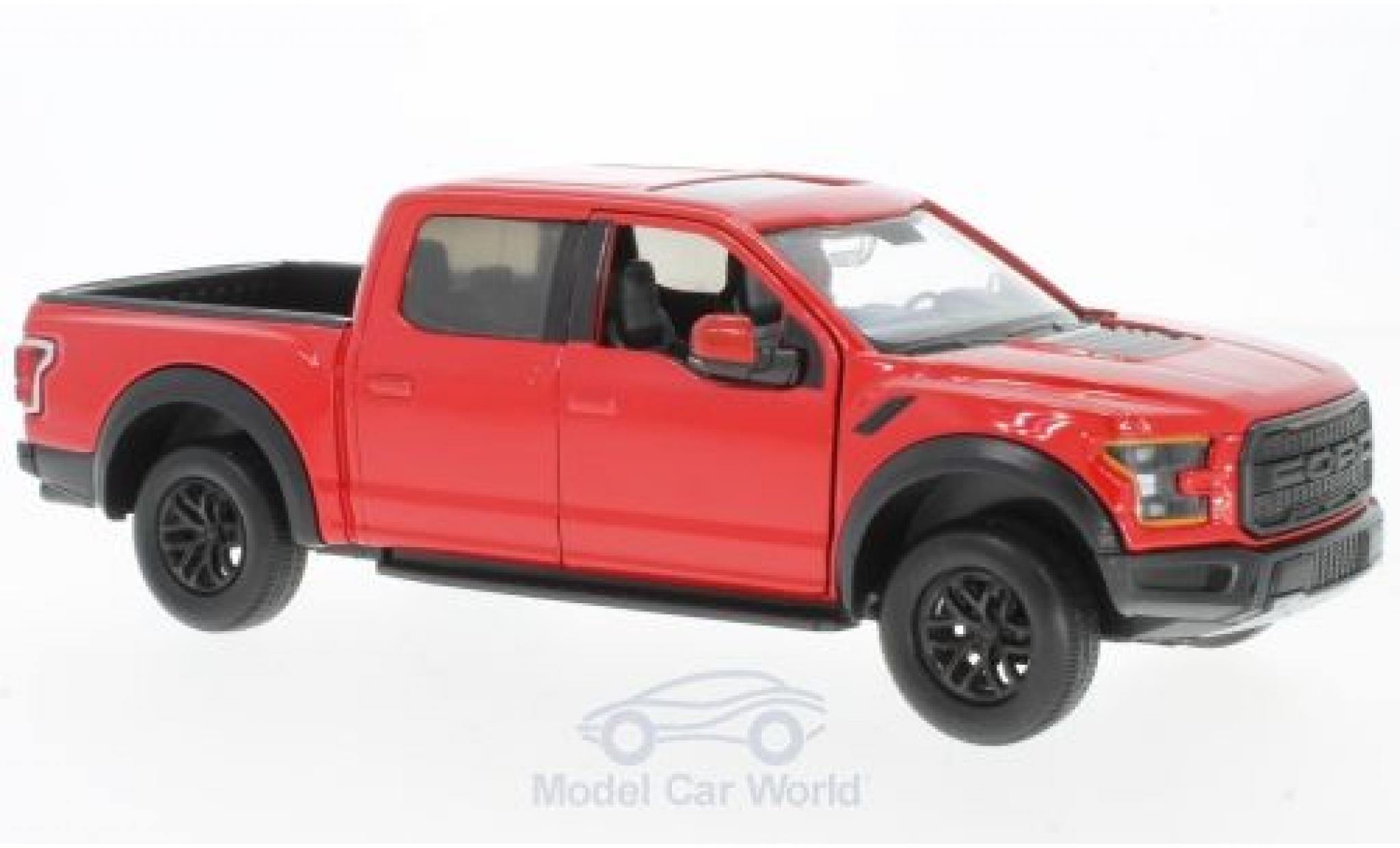 Ford F-1 1/24 Motormax 50 Raptor rouge 2017