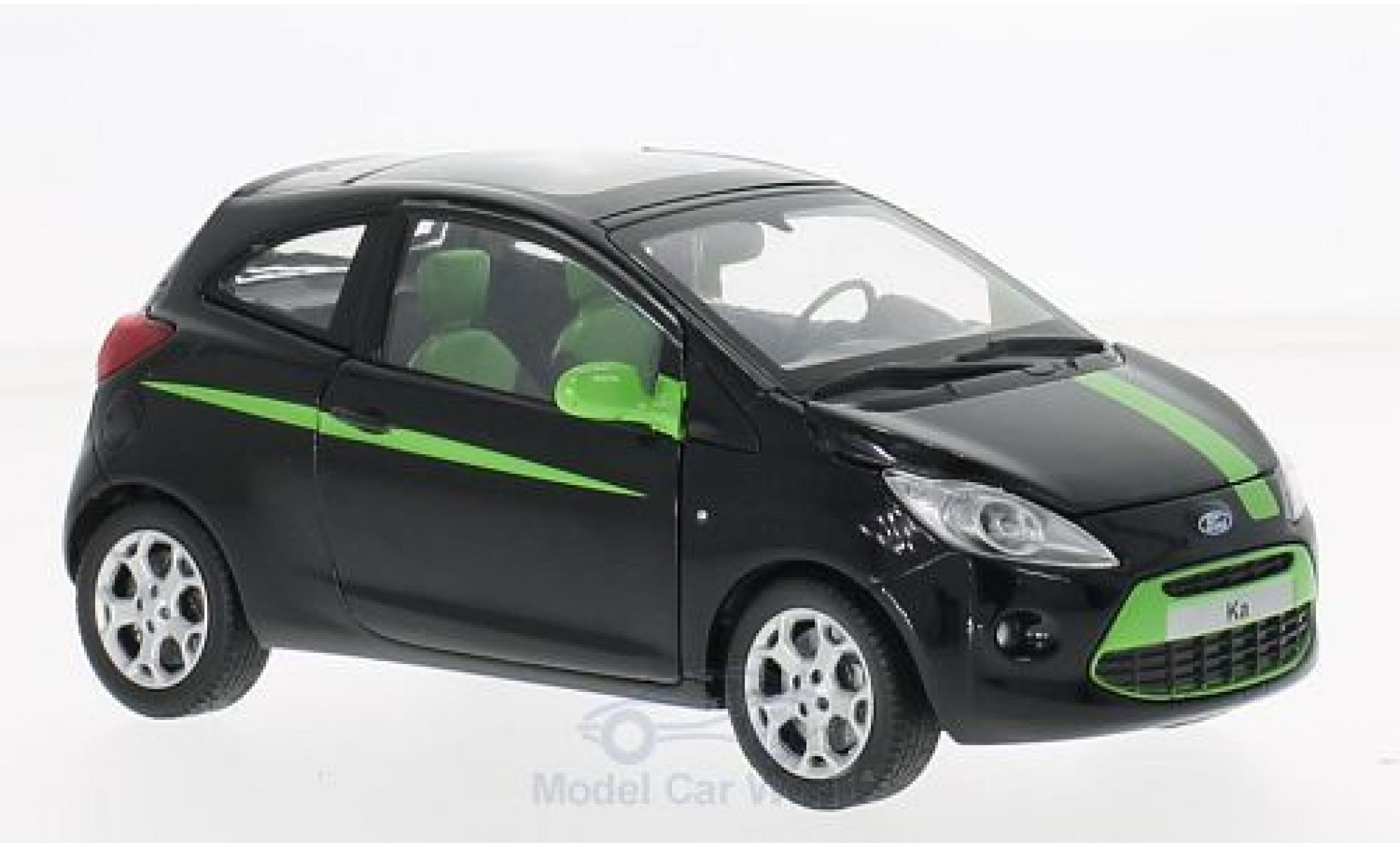 Ford Ka 1/24 Motormax noire/verte