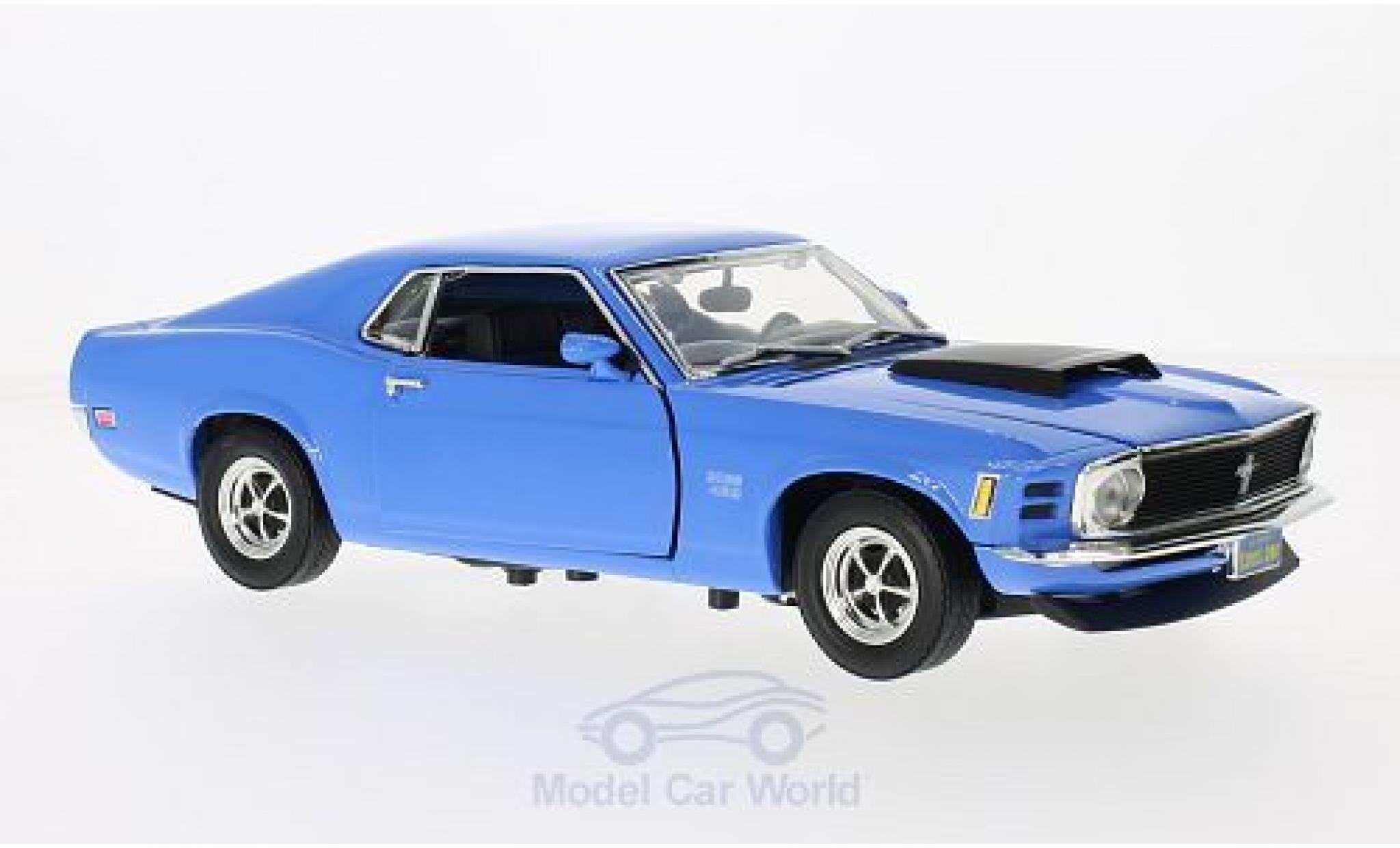 Ford Mustang 1/18 Motormax Boss 429 blue 1970 ohne Vitrine