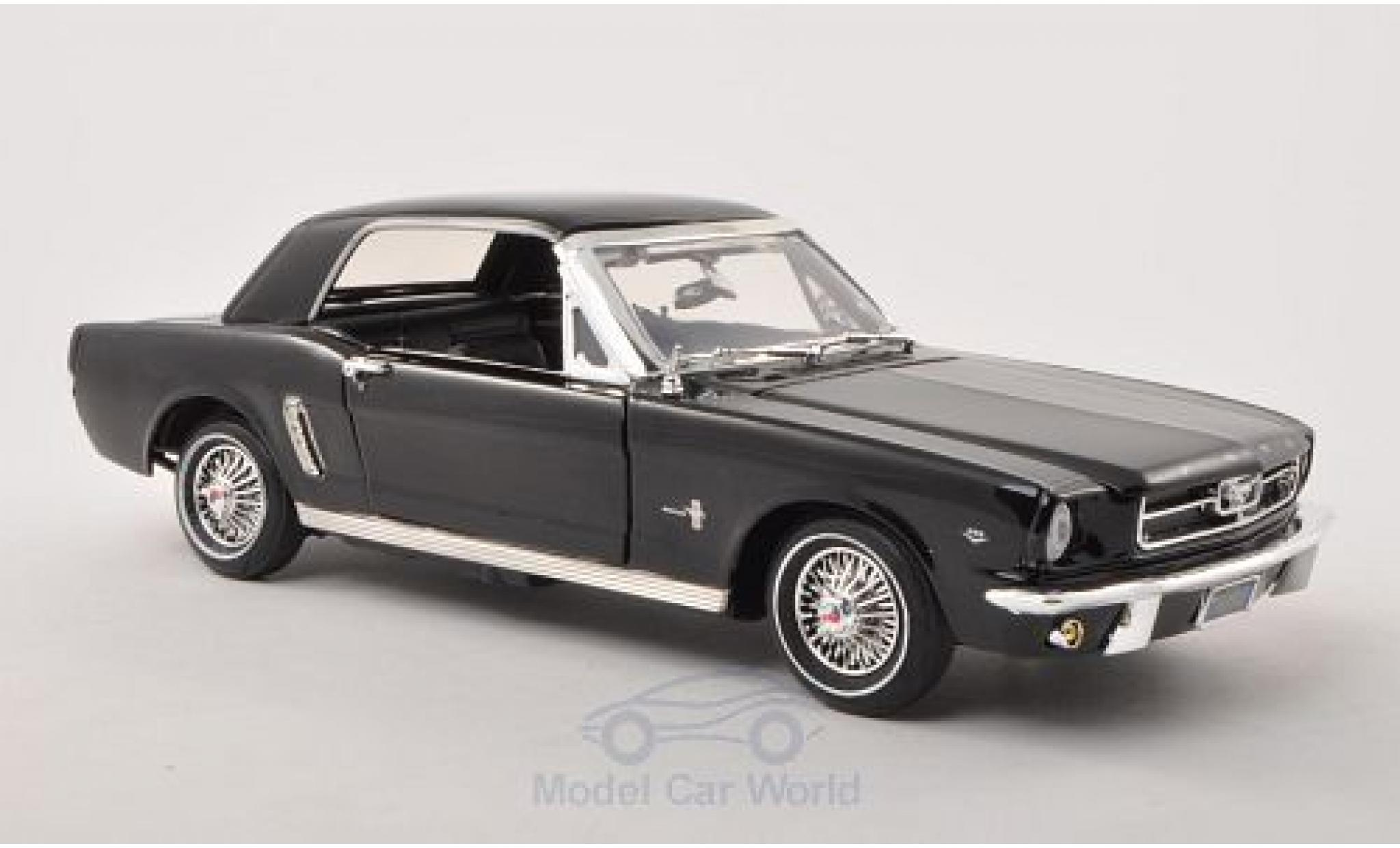 Ford Mustang 1/18 Motormax Hardtop noire 1964