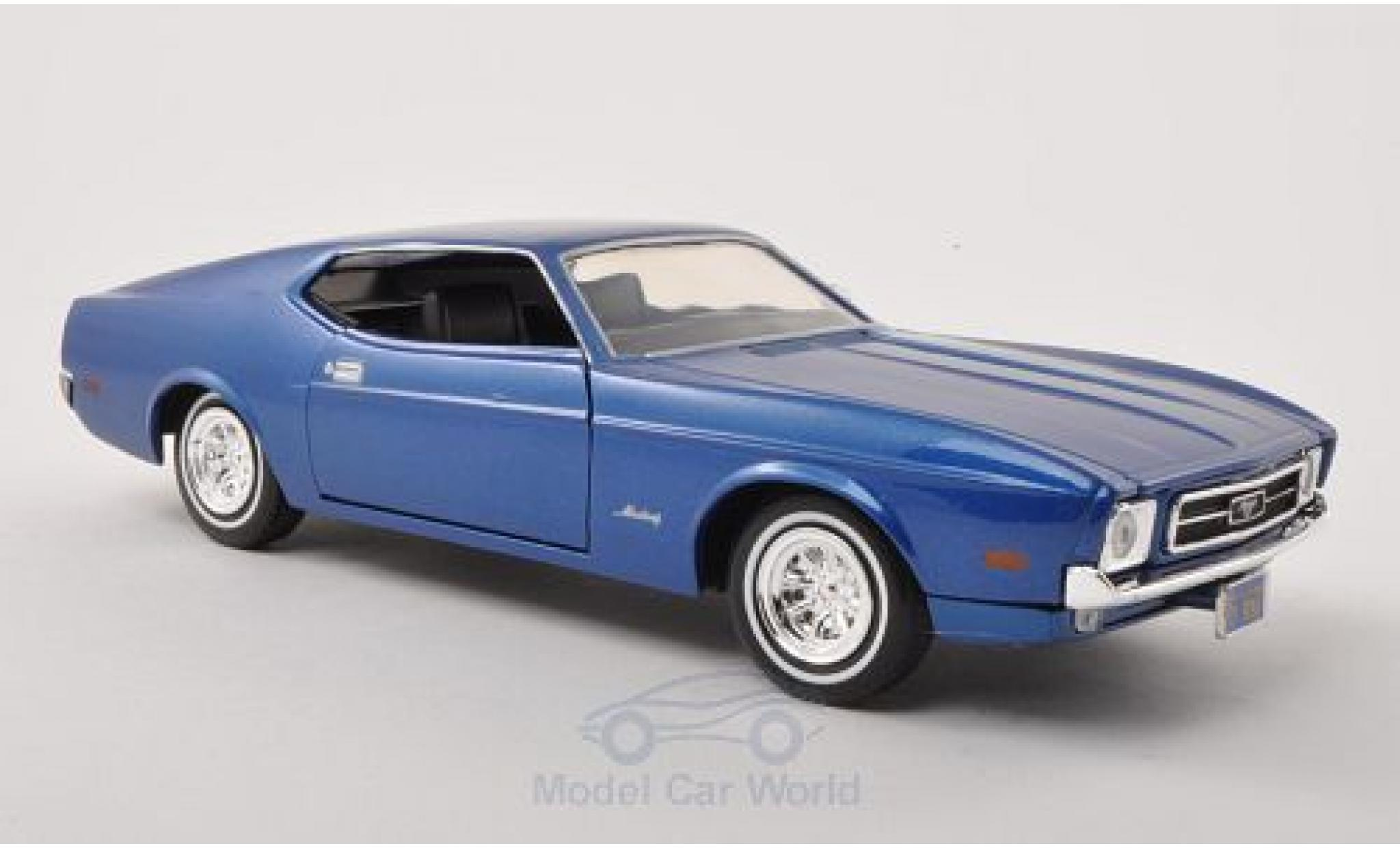 Ford Mustang 1971 1/24 Motormax Sportsroof metallic-bleue 1971