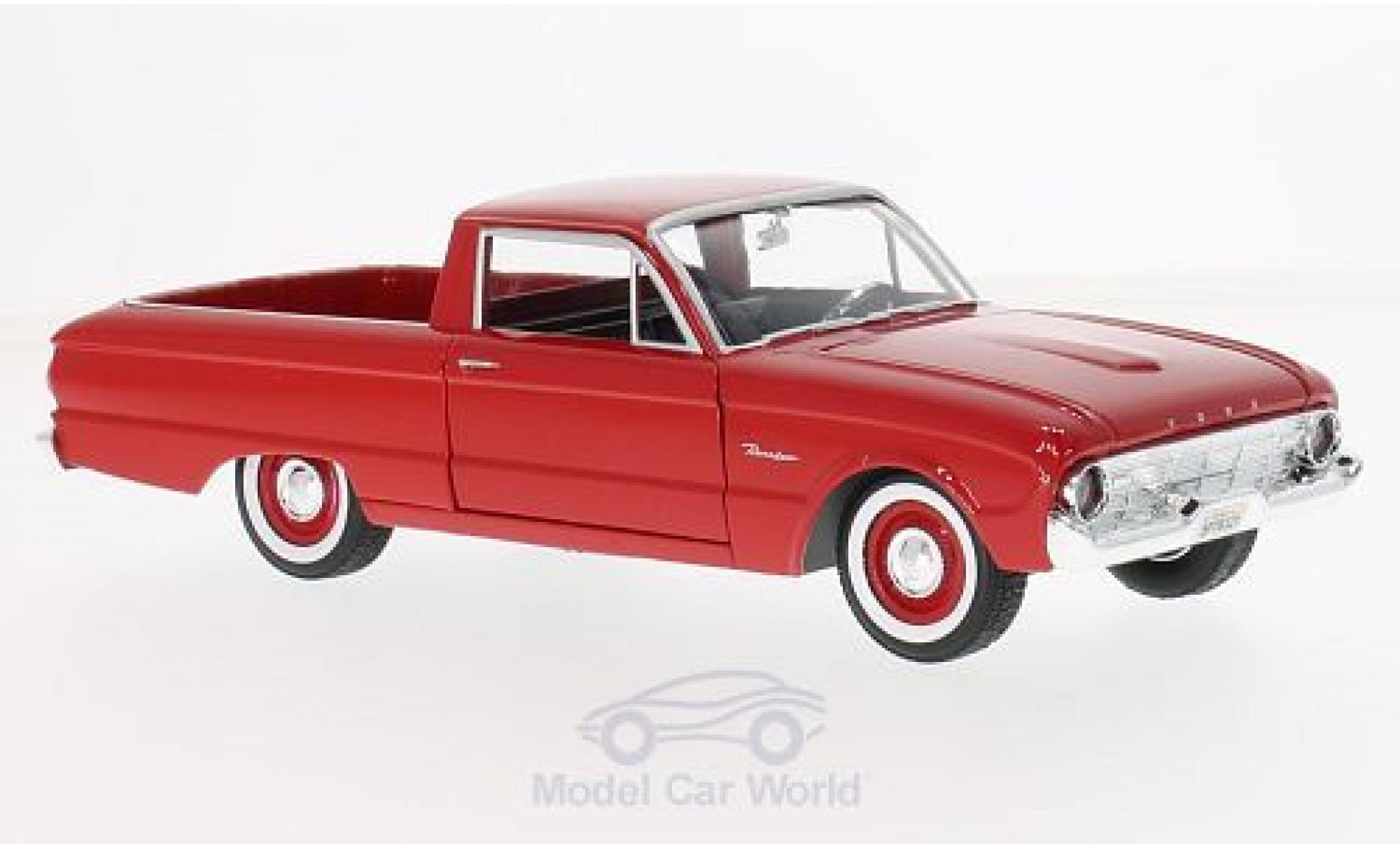 Ford Ranchero 1/24 Motormax rouge 1960
