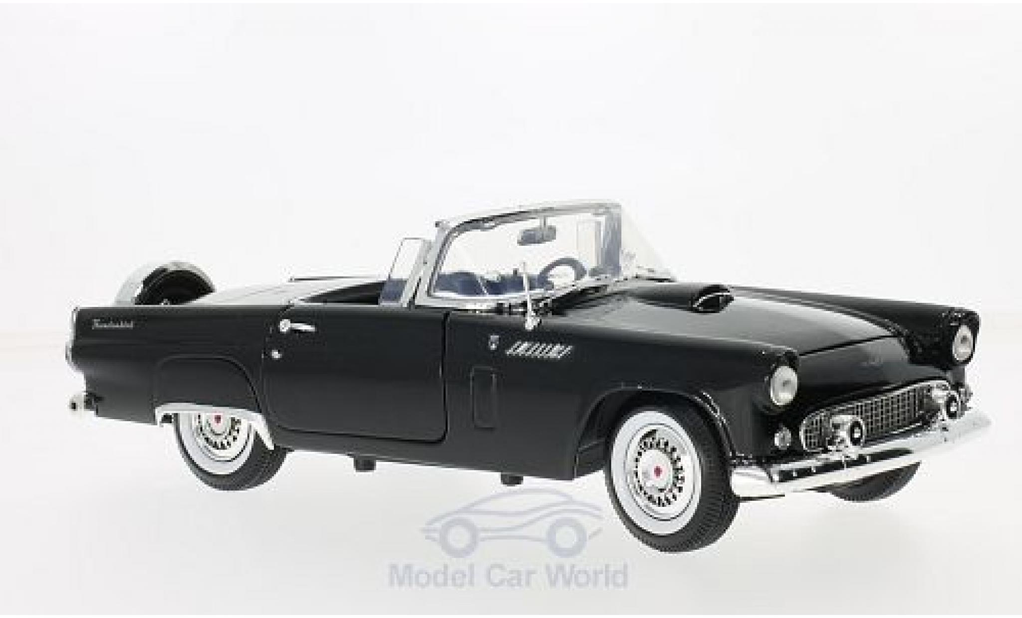 Ford Thunderbird 1956 1/18 Motormax Convertible noire
