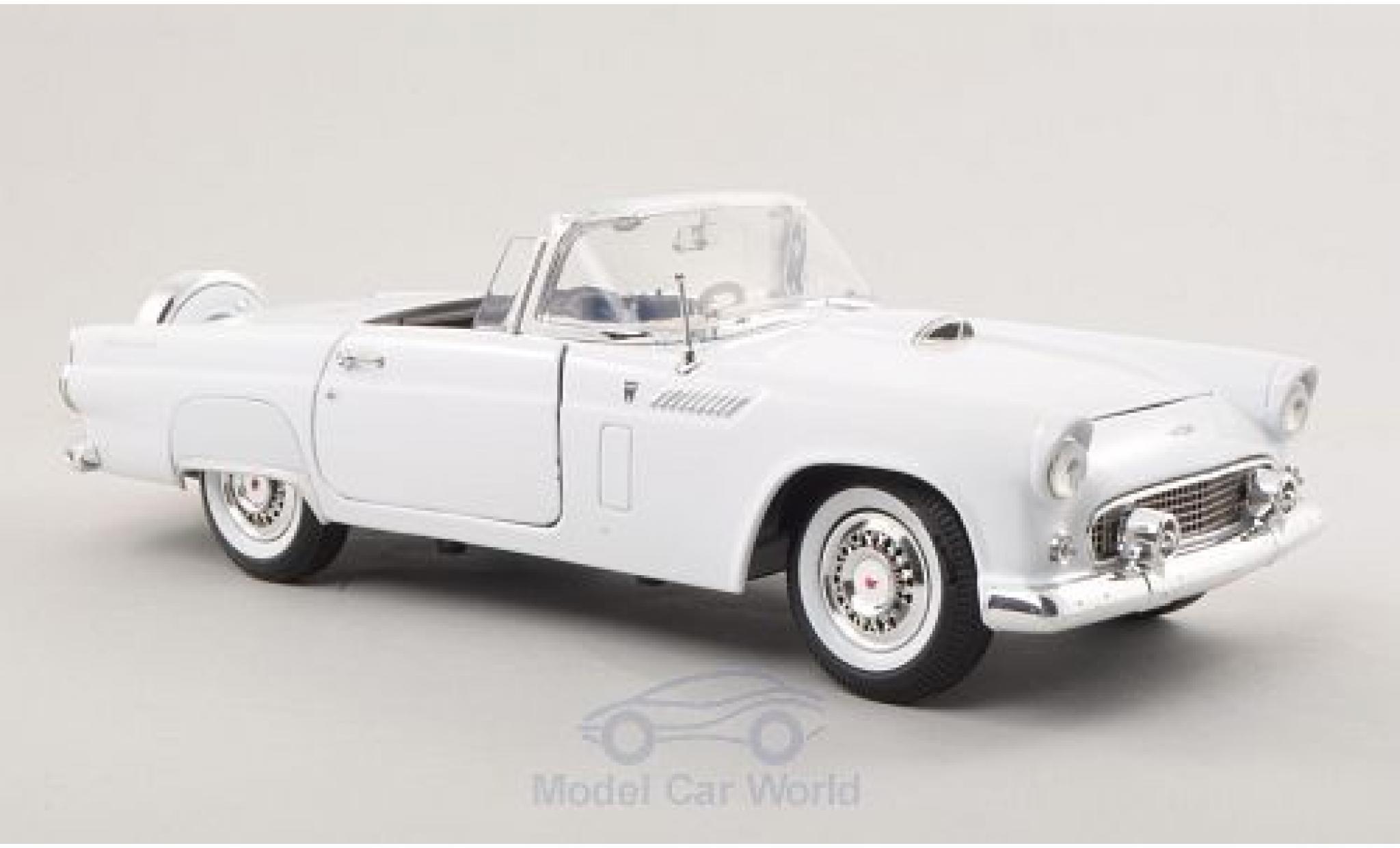 Ford Thunderbird 1/18 Motormax Convertible blanche 1956