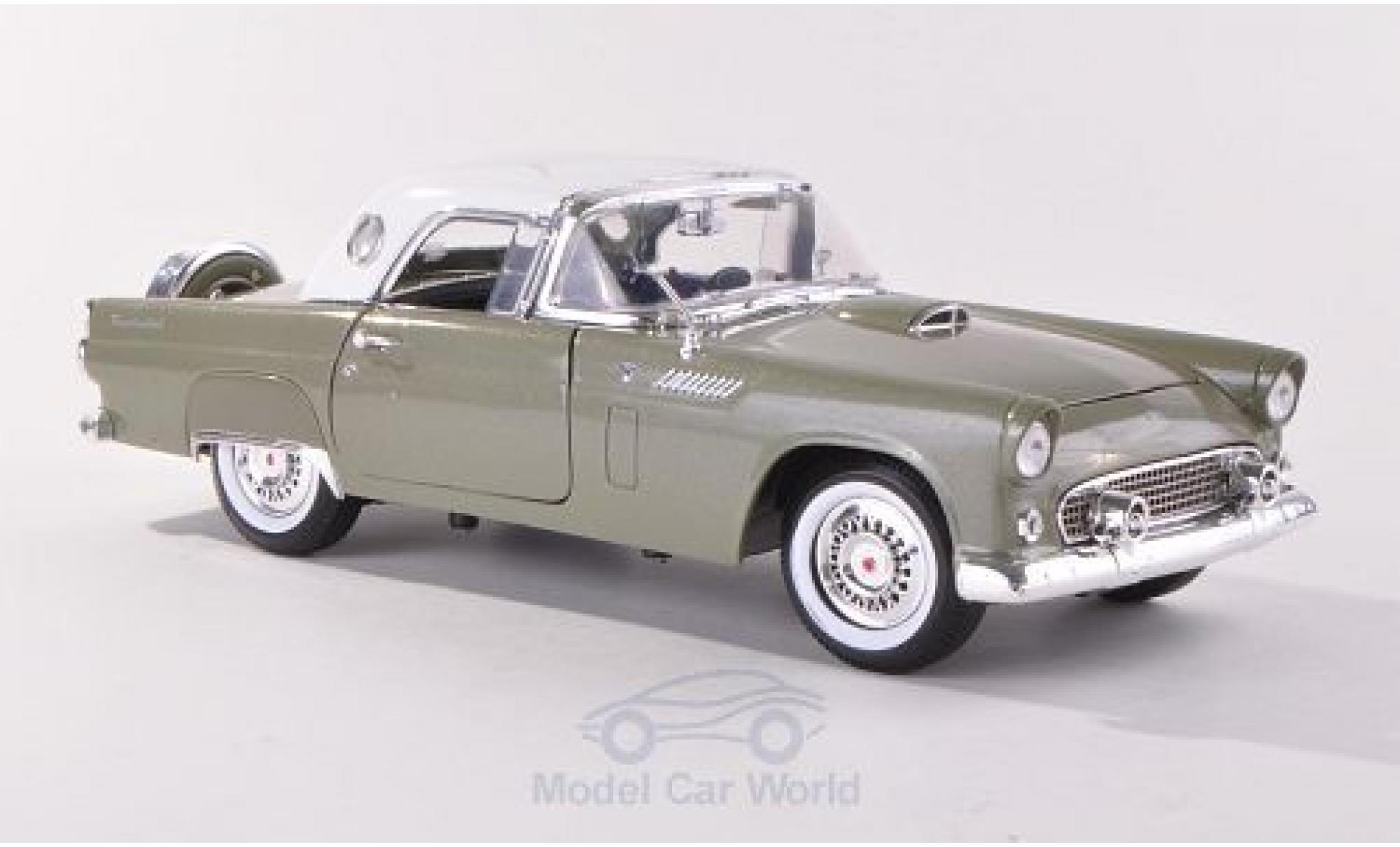 Ford Thunderbird 1956 1/18 Motormax Hardtop metallise verte/blanche