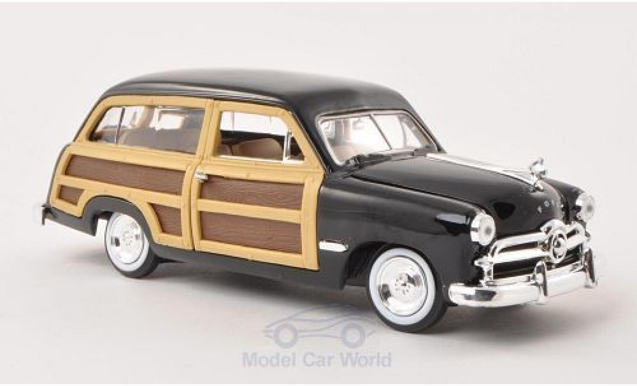 Ford Woody 1/24 Motormax Wagon noire/Holzoptik 1949 ohne Vitrine